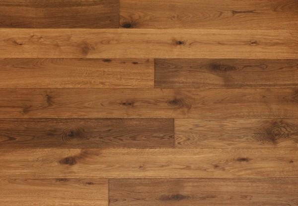 Massivholzdiele Wildeiche handbearbeitet angeräuchert geölt - 90092
