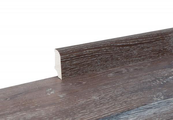 Sockelleiste furniert Typ5 Eiche geräuchert gekalkt geölt - 11137