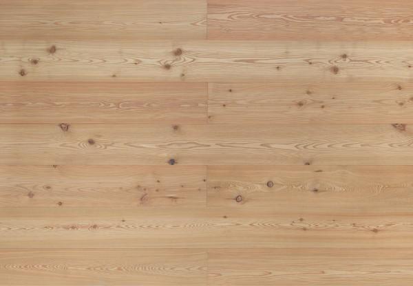 Landhausdiele Astlärche sibirisch gebürstet weiß geölt - 33052