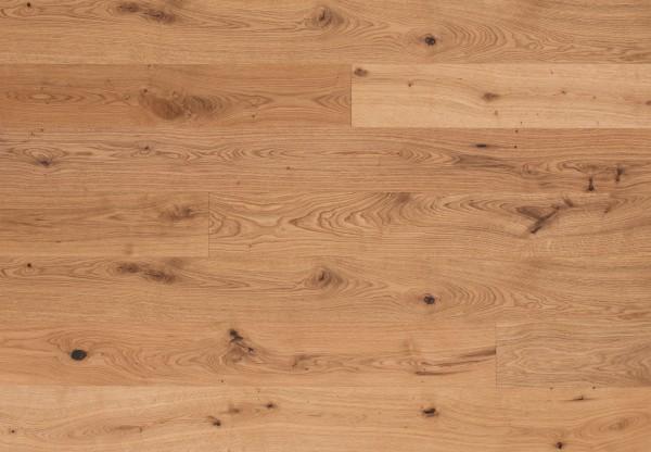 Landhausdiele Eiche Wildspitze Rustik gebürstet leicht weiß pigmentiert geölt - 50651
