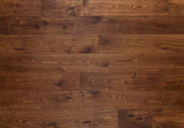 Massivholzdiele Wildeiche wellengehobelt dunkel geräuchert geölt - 90115