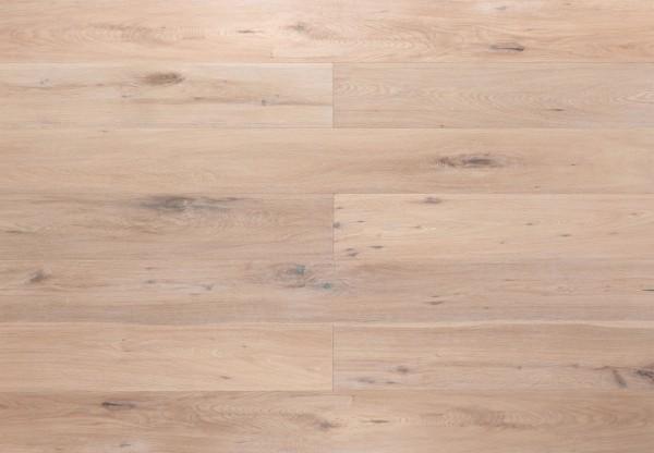 Landhausdiele Eiche Ontario handgehobelt gebürstet gekalkt weiß geölt - 60313