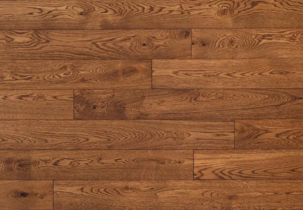 Massivholzdiele Wildeiche gebürstet lehmbraun geölt - 90015