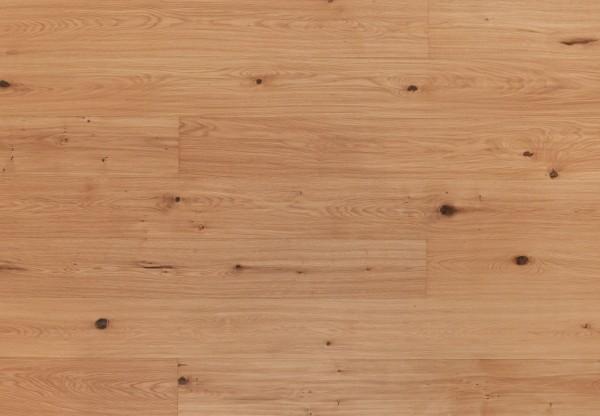 Landhausdiele Wildeiche handgehobelt leicht weiß pigmentiert geölt - 33481