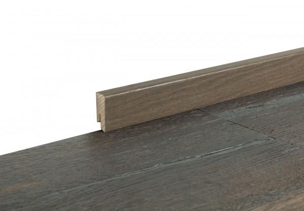 Sockelleiste furniert Cube Eiche Altholz dunkel geräuchert geölt - 11701