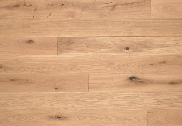 Massivholzdiele Wildeiche gebürstet gelaugt mittel weiß geölt - 90030
