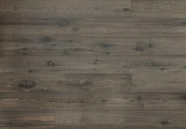 Landhausdiele Eiche Columbia handbearbeitet gesägt gebürstet dunkelgrau geölt - 60454