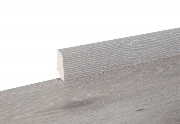 Sockelleiste furniert Typ5 Eiche geräuchert gekalkt weiß geölt - 11139