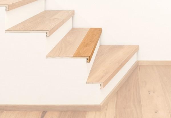 Treppenkantenprofil 3-Schicht mit Abschluss - 38001