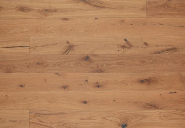Landhausdiele Eiche Rustikal gebürstet leicht weiß pigmentiert geölt - 50556