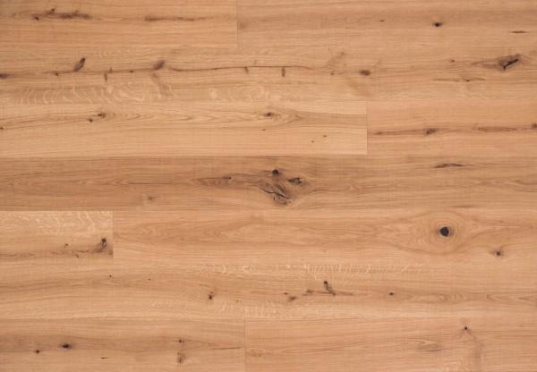 Landhausdiele Eiche Lugano Rustik quergebürstet leicht weiß pigmentiert geölt - 50621
