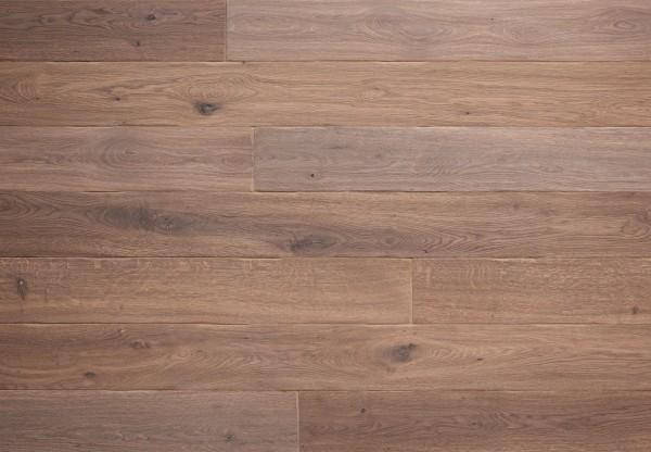Massivholzdiele Wildeiche handbearbeitet angeräuchert weiß geölt - 90093
